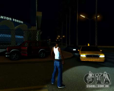 ENB v3.0.1 para GTA San Andreas por diante tela