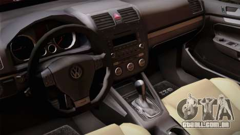 Volkswagen Golf 5 para GTA San Andreas vista direita