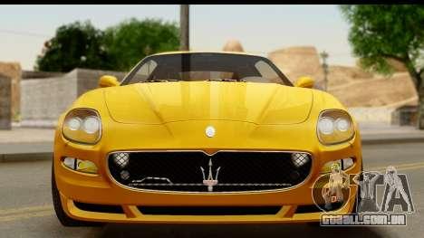Maserati Gransport 2006 para vista lateral GTA San Andreas