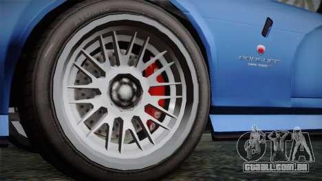 GTA 5 Bravado Banshee para GTA San Andreas traseira esquerda vista