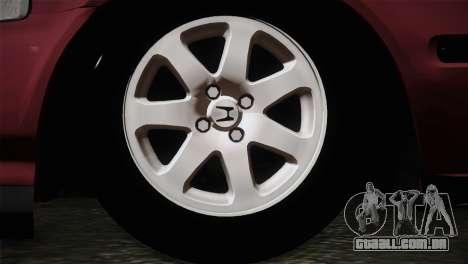 Honda Civic 1.4i S TMC para GTA San Andreas traseira esquerda vista