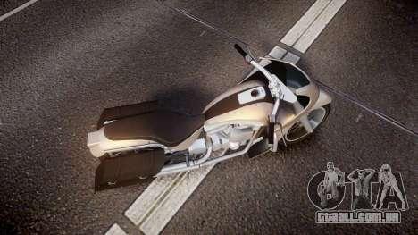 GTA V Western Motorcycle Company Bagger para GTA 4 vista direita