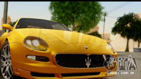 Maserati Gransport 2006 para GTA San Andreas traseira esquerda vista