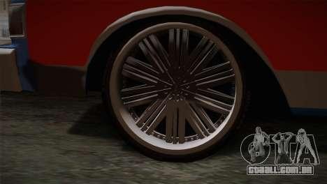 Chevy Caprice Hustler & Flow para GTA San Andreas traseira esquerda vista