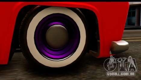 EFLC TLaD Vapid Slamvan SA Mobile para GTA San Andreas vista traseira