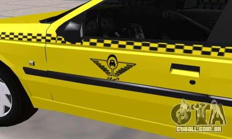 Peugeot 405 Roa Taxi para GTA San Andreas vista superior