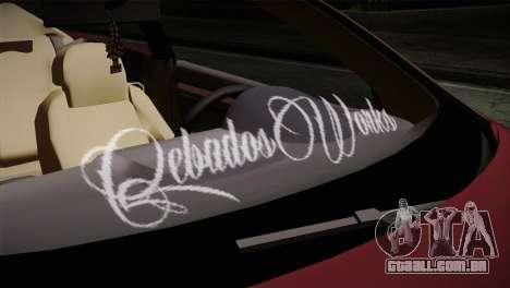 Volkswagen Golf 5 para GTA San Andreas vista traseira