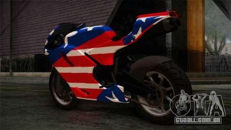 GTA 5 Bati American para GTA San Andreas esquerda vista