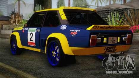 Fiat Abarth Sport Edition para GTA San Andreas esquerda vista