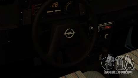 Opel Kadett Stock para GTA San Andreas traseira esquerda vista