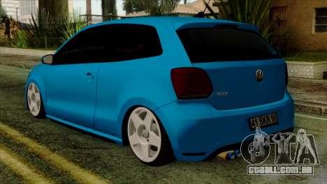 Volkswagen Polo GTI 2014 para GTA San Andreas esquerda vista