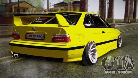 BMW M3 E36 DRY Garage para GTA San Andreas esquerda vista