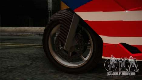 GTA 5 Bati American para GTA San Andreas traseira esquerda vista