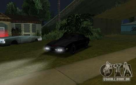 K.i.T.T. 2000 para GTA San Andreas traseira esquerda vista