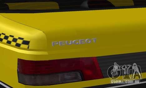Peugeot 405 Roa Taxi para as rodas de GTA San Andreas
