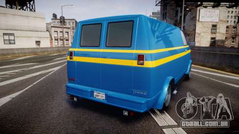 GTA V Declasse Burrito [Update] para GTA 4 traseira esquerda vista