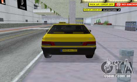 Peugeot 405 Roa Taxi para GTA San Andreas vista traseira