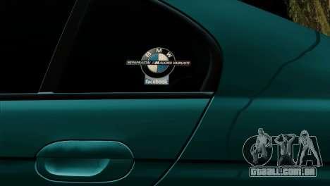 BMW 540 E39 Accuair para GTA San Andreas vista interior
