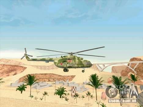 Mi-8 para GTA San Andreas vista traseira