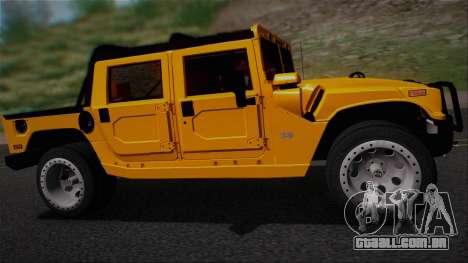 Hummer H1 Alpha OpenTop 2006 Stock para GTA San Andreas vista direita