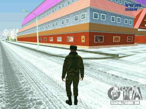 Pak militar da Federação da rússia no inverno un para GTA San Andreas por diante tela