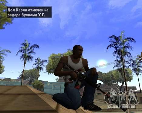 M4A1-S Syrex CS:GO para GTA San Andreas segunda tela