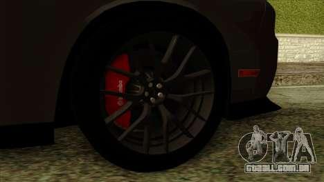 Dodge Challenger SRT Hellcat 2015 para GTA San Andreas traseira esquerda vista