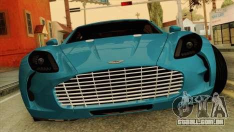 Aston Martin One 77 2010 para GTA San Andreas vista traseira