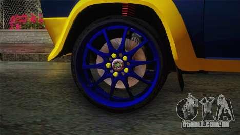 Fiat Abarth Sport Edition para GTA San Andreas traseira esquerda vista