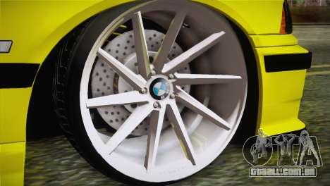 BMW M3 E36 DRY Garage para GTA San Andreas traseira esquerda vista