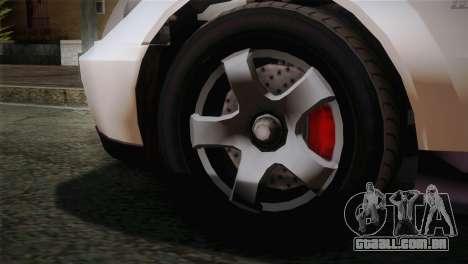 GTA 5 Karin Sultan SA Mobile para GTA San Andreas traseira esquerda vista
