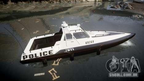 GTA V Police Predator [Fixed] para GTA 4 esquerda vista