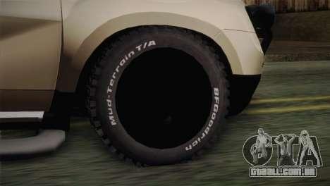 Dacia Duster Pickup 2014 para GTA San Andreas traseira esquerda vista
