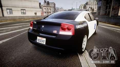 Dodge Charger 2010 LCPD [ELS] para GTA 4 traseira esquerda vista