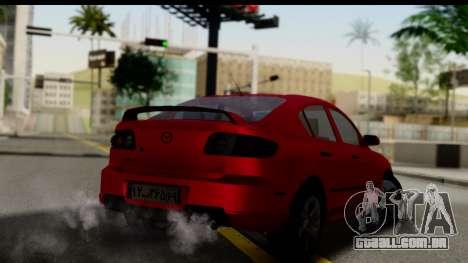 Mazda 3 2008 para GTA San Andreas esquerda vista