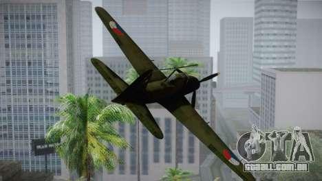 ИЛ-10 Força Aérea checa para GTA San Andreas vista traseira