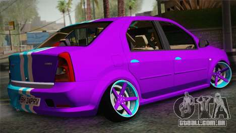 Dacia Logan Purple-Blue para GTA San Andreas esquerda vista