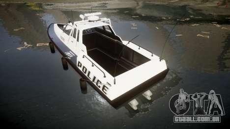 GTA V Police Predator [Fixed] para GTA 4 traseira esquerda vista