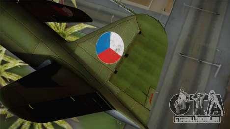 ИЛ-10 Força Aérea checa para GTA San Andreas traseira esquerda vista