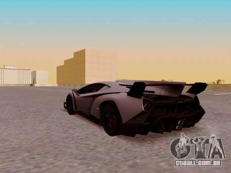 Lamborghini Veneno para GTA San Andreas vista traseira