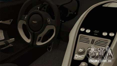 Aston Martin One 77 2010 para GTA San Andreas vista direita