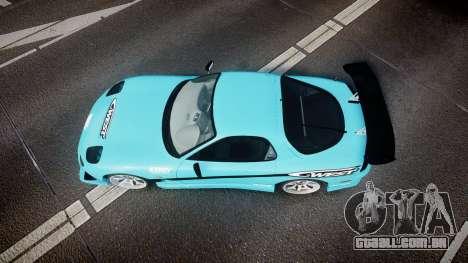 Mazda RX-7 C-West para GTA 4 vista direita