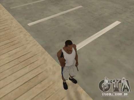 Russo submachine guns para GTA San Andreas oitavo tela