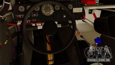 NASCAR Chevy SS 2013 para GTA San Andreas vista traseira