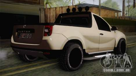 Dacia Duster Pickup 2014 para GTA San Andreas esquerda vista