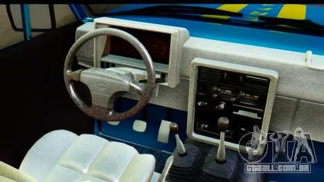 Nissan Junior 1982 Pickup Towtruck para GTA San Andreas vista interior