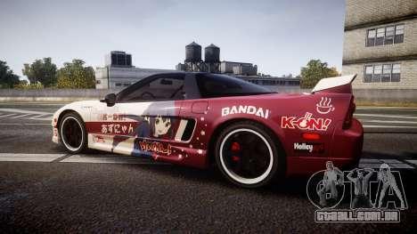 Honda NSX 1998 [EPM] k-on tainaka ritsu para GTA 4 esquerda vista