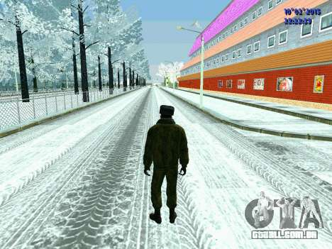 Pak militar da Federação da rússia no inverno un para GTA San Andreas segunda tela