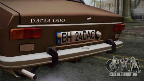 Dacia 1300 Biharia para GTA San Andreas vista traseira