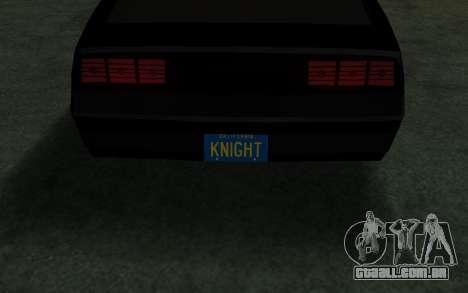 K.i.T.T. 2000 para GTA San Andreas vista direita